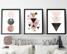 Set of 3, Geometric Print, Geometric Poster, Scandinavian Modern, Scandinavian Print, Scandinavian Art, Minimalist…