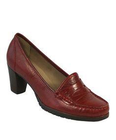 Look at this #zulilyfind! Campari Lizzy Leather Loafer Pump #zulilyfinds