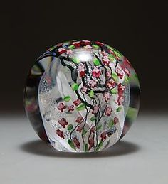 Cherry Blossom Paperweight: Shawn Messenger: Art Glass Paperweight | Artful Home