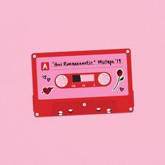 I made a Valentine's Day mixtape for you with all my favourite L-U-V songs on it Photo Wall Collage, Collage Art, Illustration Art, Illustrations, Valentines Illustration, Posca Art, Tape Art, Jolie Photo, Red Aesthetic