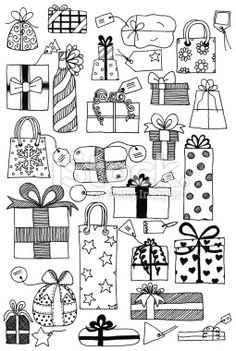 Doodle gifts Royalty Free Stock Photo