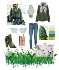 """Green day"" by dianalarionova17 on Polyvore featuring мода, Seed Design, Frame Denim, Uniqlo, Diba, Balenciaga, Larsson & Jennings и Sun Buddies"