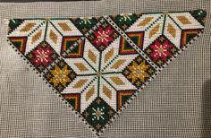 Bringeduk til Os bunad Cross Stitch Borders, Cross Stitch Designs, Folk Fashion, Pattern Fashion, Cross Stitch Embroidery, Bohemian Rug, Folk Style, Rugs, Crafts