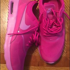 Pretty in pink Pink Nike Air Max Thea, comfortable, ONLY worn once, super cute, will accept some offers Nike Shoes Sneakers