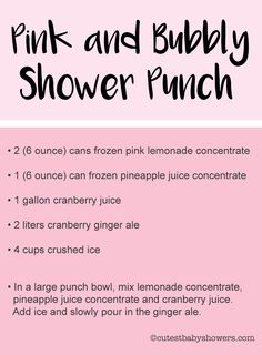 Tons of baby shower punch recipes and free printable punch labels! #babyshowerpunch