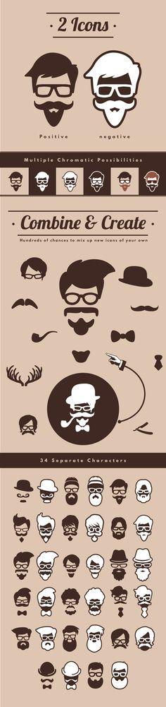 hipster icons | graphic design inspiration | digital media arts college | www.dmac.edu | 561.391.1148