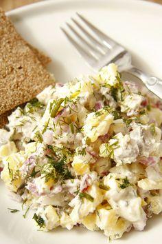 Siļķu un kartupeļu salāti ar kaperiem