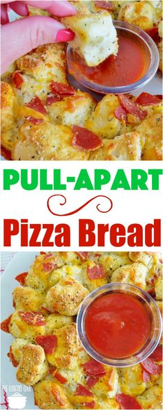 Easy Pull Apart Pizza Bread recipe from The Country Cook #snacks #appetizers #bread #kidfriendly #recipes #ideas