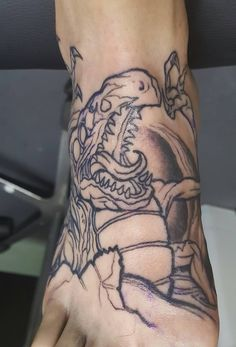 Fresh start on my Super Metroid leg sleeve tattoo