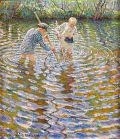 Boys Catching Fish — Nikolay Bogdanov-Belsky