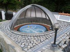 Softub under a dome, pretty cool!! www.softub.com