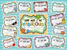 Teacher Bits and Bobs: Little Miss & Mr. Fabulous {End of the Year Class Awards For All Your Guys and Gal}