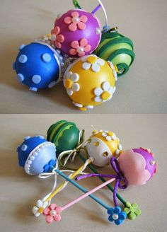 Decora con sonajeros el baby shower - Google Search