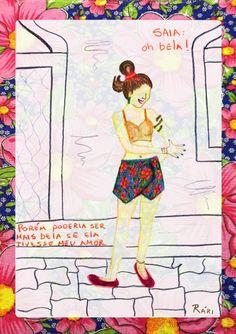 Croqui da saia: Oh Bela!  Homenagem a Capiba. Música: Oh Bela! Cenário: Ruas de Recife ou Olinda.