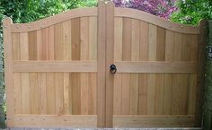 Wave Gate - Solid Wood tall double rounded privacy gate simple design