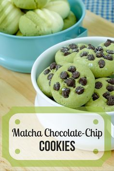 These matcha cookies are a breakaway from traditional chocolate chip cookies. The chocolate & matcha tea create a tasty and sweet combination. Tea Recipes, Cookie Recipes, Dessert Recipes, Desserts, Baking Recipes, Chocolate Recipes, Chocolate Chip Cookies, Chocolate Chips, Green Tea Cookies