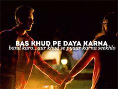 YJHD quote Rumi Love Quotes, Lyric Quotes, Movie Quotes, Lyrics, Funny Quotes, Qoutes, Famous Dialogues, Movie Dialogues, Bollywood Quotes