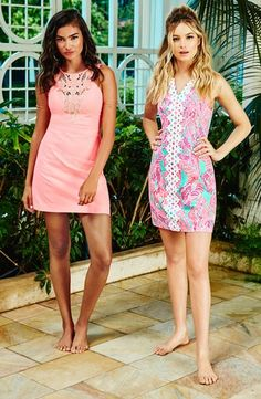 f27d4e1940e6 Lilly Pulitzer Pearl Lace Shift Dress (R) and Largo Cut-In Shift Dress