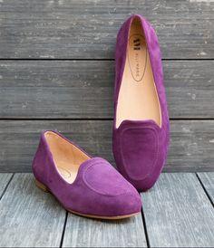 Julie Grape Loafers #loafers #purple #flats