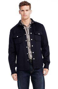 Italian Wool Shirt Jacket - Outerwear & Jackets - Mens - Armani Exchange
