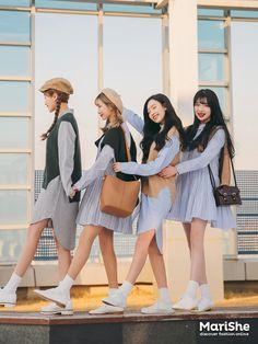 K Daily 2017 girlfriend look (MT) Matches Fashion, I Love Fashion, Girl Fashion, Fashion Outfits, Korean Fashion Trends, Korea Fashion, Matching Outfits Best Friend, Become A Fashion Designer, Ulzzang Korea