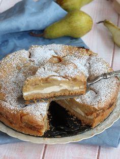CROSTATA PERE YOGURT ricetta torta versata senza uova e burro