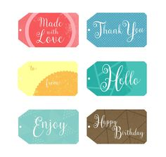 It's always nice to add a personalized touch to a present. Do it the easy way with these printable gift tag templates!