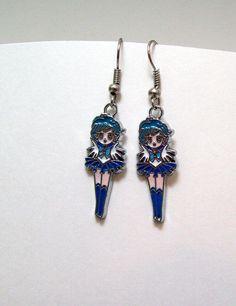 Sailor Moon earrings Sailor Mercury anime by Eternalelfcreations, $8.00
