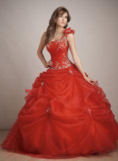 vestido-quinceanera-color-rojo-mangas-asimetricas