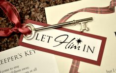 "For Christmas 2010 we gave our neighbors some fun gifts. We used metal keys and attached a poem with them. ""The Innkeeper's Key."""
