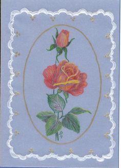 Farbstift Zeichnungen auf Pergamentpapier