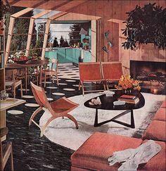 1954 Atomic Living Room by American Vintage Home, via Flickr
