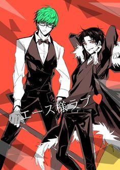 Kuroko no basuke goes DRRR!! Even more witting when Ono daisuke voices both Midorima and Shizuo!