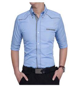 QINGYU British Style Casual Shirt