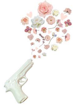 Group of: GUNS 'N' ...... FLOWERS!?   We Heart It