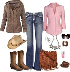 """""""Western Chic"""" by tufootballmom ❤ liked on Polyvore"""