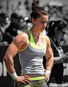 """Crossfit Girl. Recognize your full potential. And to those who say """"ew"""", shame on you! Who said women had to be delicate little things? If you want to swing that way, do it. But don't bring others down. Props girl!"""