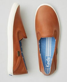 AEO Keds Crashback Leather Sneakers, Women's, Tan
