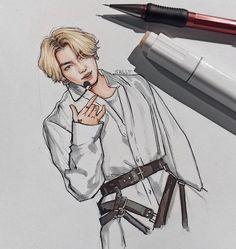 Kpop Drawings, Art Drawings Sketches Simple, Realistic Drawings, Jungkook Fanart, Kpop Fanart, Bts Chibi, Bts Pictures, Foto Bts, Bts Wallpaper