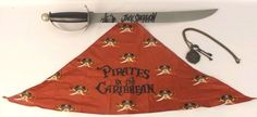 Disney Pirates of the Caribbean Sword & Disney Cruise Lines Bandanna & Chain #Disney