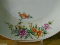 """HAND PAINTED Vintage! """"COUPE SOUP BOWL"""" Merivale pattern by Narumi  #Narumi"""