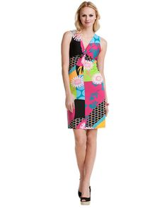 Tracy Negoshian Geometric Flower Dress