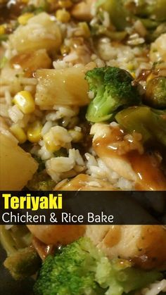 Teriyaki Chicken & Rice Bake is the quick weeknight Asian casserole of your DREAMS! Fast, easy, tangy and delicious! Teriyaki Chicken And Rice, Chicken Rice Casserole, Casserole Recipes, Asian Recipes, Healthy Recipes, Chinese Recipes, Chinese Rice Recipe, Oriental Recipes, Oriental Food