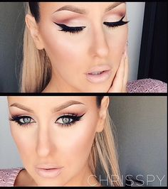 Eyes!! Can't ever go wrong with a winged eyeliner
