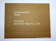 """Steffi´s Stempelkeller : Anleitung """"Entspannungs-Box"""""""