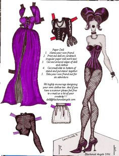 goth paper doll 1996...