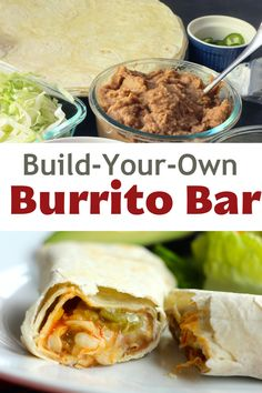 Serving a Build-Your-Own-Burrito Bar is a great way to make dinner simply, easily, and economically. With tortillas, beans, cheese, and any number of fillings, all can have a burrito just the way they like it. Easy Weekday Meals, Make Ahead Meals, Easy Dinners, Turkey Chops, Burrito Bar, Fajita Vegetables, Easy Baking Recipes, 30 Minute Meals, Good And Cheap