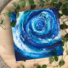 Fluid Abstract fine art by Samantha Carell- original painting. Medium: Acrylic, Resin Size: 12x12x 2 Birch Wood Canvas Included: Letter of Authenticity ________________________________________________________________ Please read the shop policies upon ordering:
