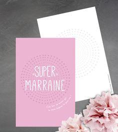 """Carte """"Super Marraine"""", c'est bon de savoir que tu seras toujours là pour moi ! : Cartes par suite-creative-babies"""