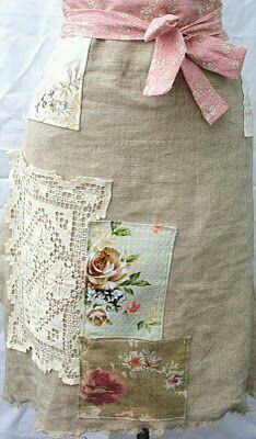 Skirt with crochet trim and patches